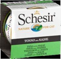 Schesir Cat 85г конс д/кошек ж/б Тунец, Морские водоросли