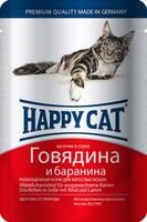Happy Cat с говядиной и бараниной в соусе 100 г