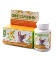 Фитомины против аллергии д/кошек 100таб