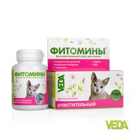 Фитомины очистительные д/кошек 100таб