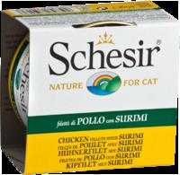 Schesir Cat 85г конс. д/кошек ж/б Куриное филе с Сурими
