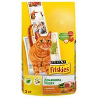 Friskies для домашних кошек с курицей и садовой зеленью 2кг