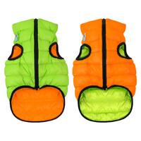 Двусторонняя курточка AiryVest оранжево-cалатовая, размер S30