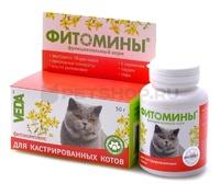 Фитомины д/кастрированных котов  100 таб
