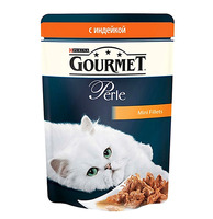 Gourmet Perle паучи с индейкой в подливке 85 г