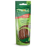Триол (TRIOL) аппетитные колбаски из лосося с уткой для кошек, 40 гр.