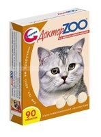 Доктор ЗОО  д/кошек  Биотин со вкусом копченостей  90 шт