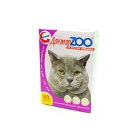 Доктор ЗОО  д/кошек  Биотин со вкусом говядины  90 шт