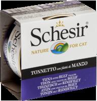 Schesir Cat 85г конс д/кошек ж/б Тунец с филе Говядины