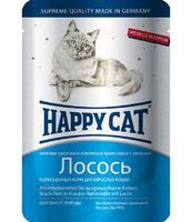 Happy Cat с лососем в соусе 100 г