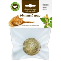 Деревенские Лакомства Мятный Шар игрушка-лакомство для кошек