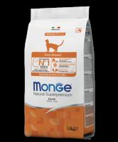 Монже 1,5 кг cухой корм для стерилизованных кошек Монопротеиновый,Утка