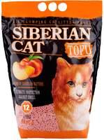 Сибирская кошка Тофу 12л. наполнитель Персик
